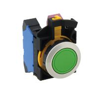 Pushbutton 22MM 1NO Yellow